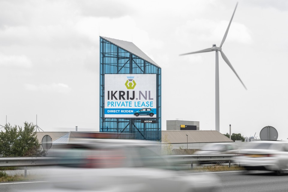 IKRIJ.NL Private Lease te zien langs de snelwegen