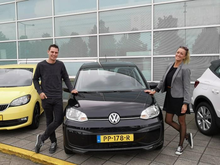 Tevreden private lease klant van IKRIJ.nl | Snel op weg met een super gave Volkswagen Up! uit voorraad!